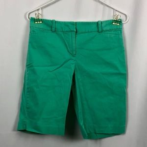 Talbots pale mint green Bermuda shorts pockets 2